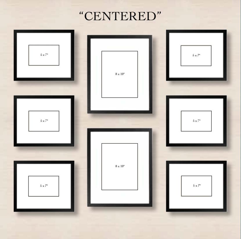 """Галерея на стене """"симметрия"""""""