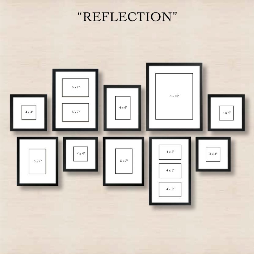 """Галерея на стене """"отражение"""""""