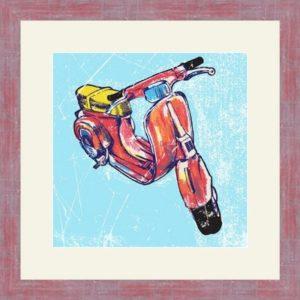 """Репродукция картина - в раме """"скутер Веста"""""""