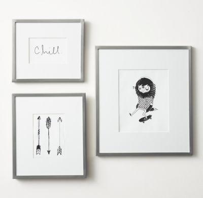 Мини галерея — три рамки со светлым паспарту