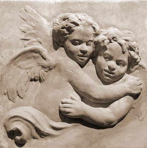 Репродукция картина - Ангел барельеф