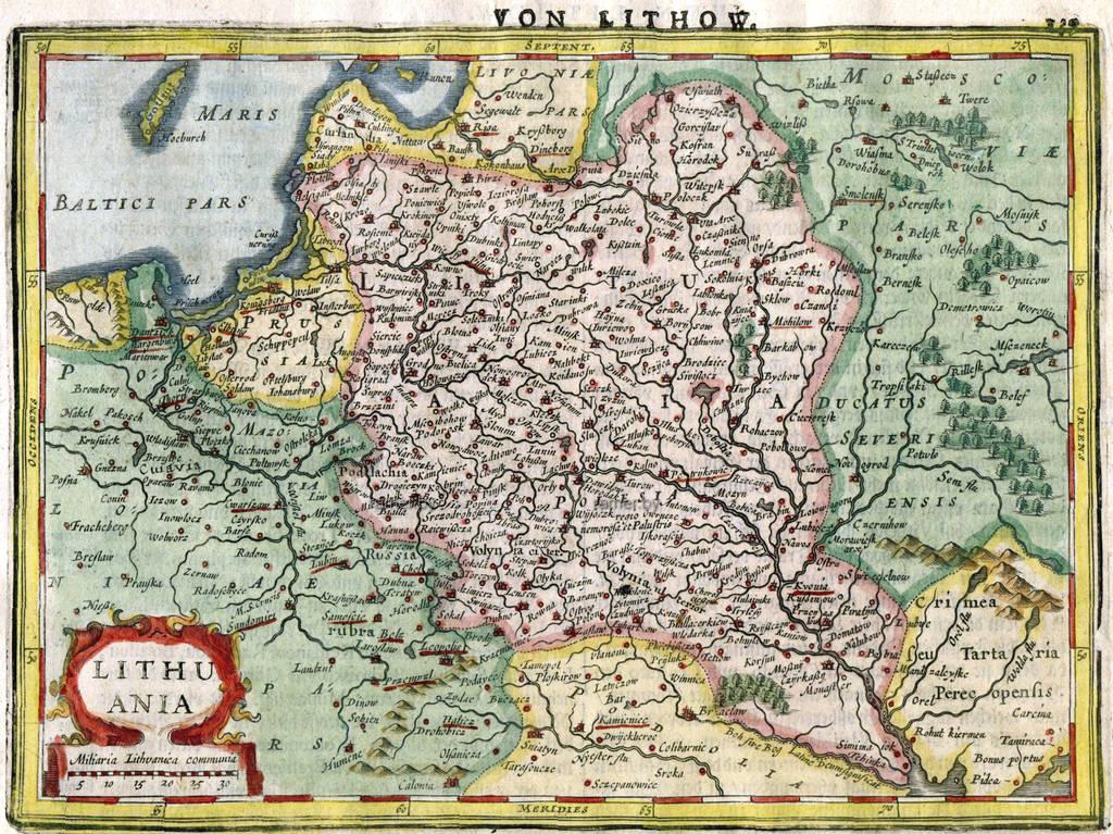 Репродукция картина - карта, Беларусь, ВКЛ