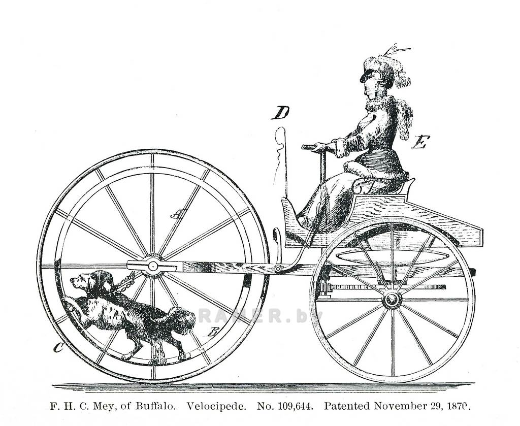 Репродукция картина - винтажный велосипед - для коллажа на стену