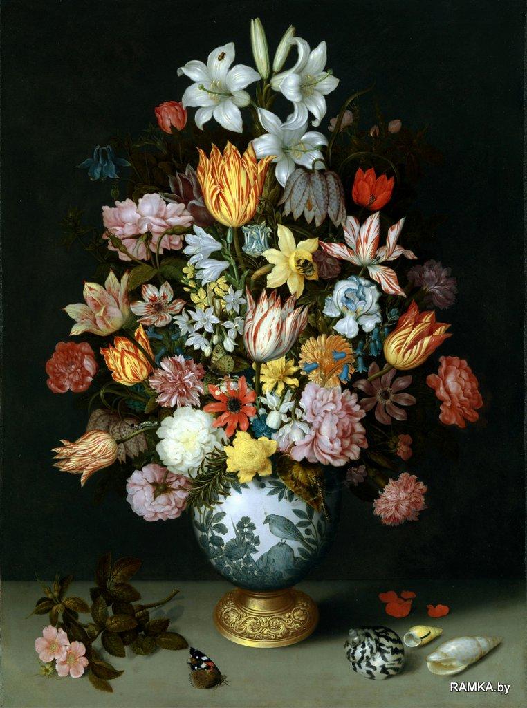0007 - Репродукция картина - Голландский натюрморт