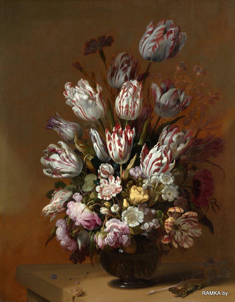 0013 - Репродукция картина - Голландский натюрморт