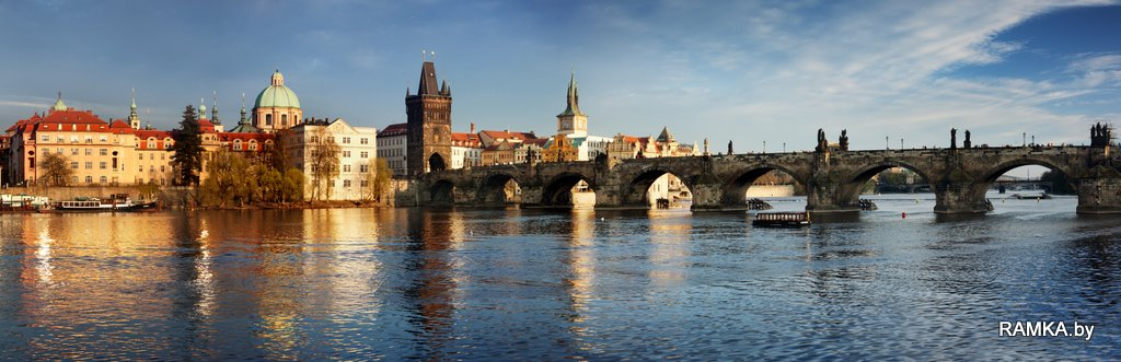 Репродукция картина - Карлов Мост в Праге, Charles Bridge in the Prague
