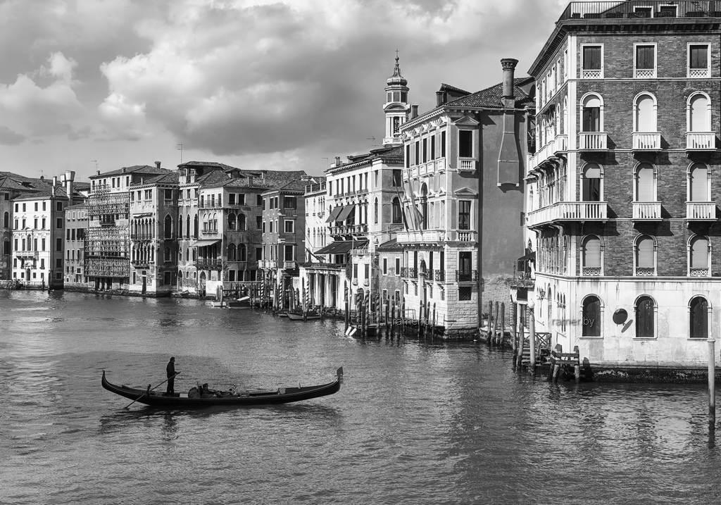 Репродукция картина - Венеция, канал, гондола