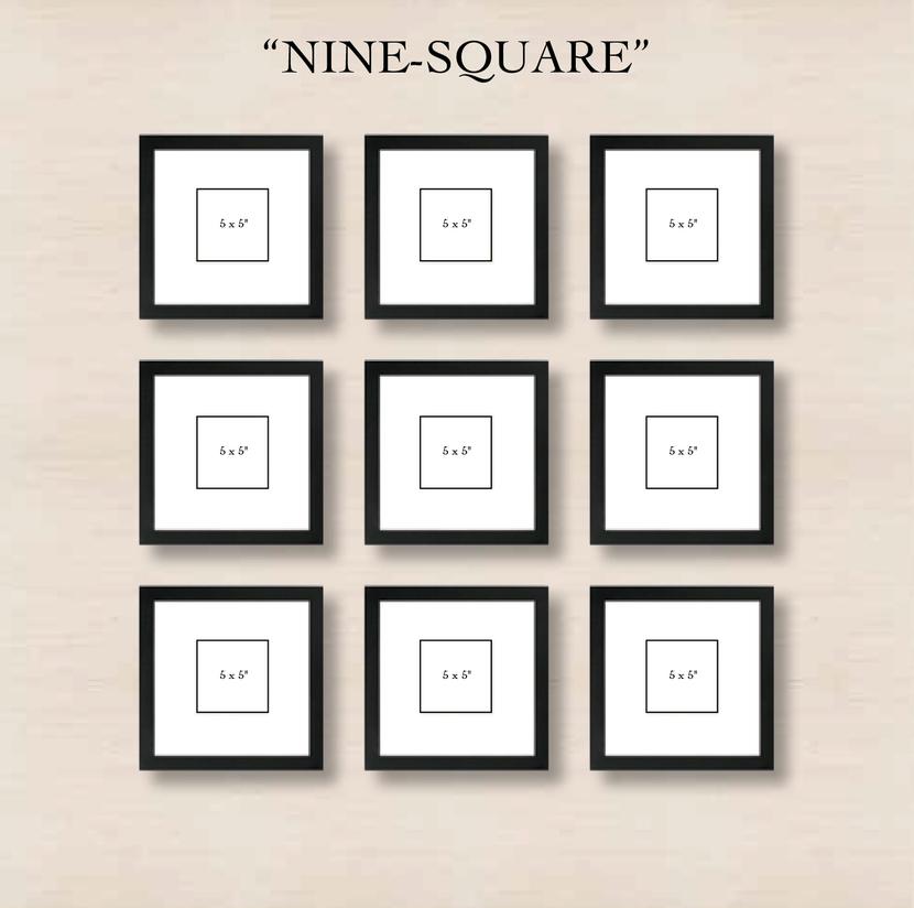 """Галерея на стене """"9 квадратов"""""""