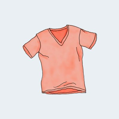 V-Neck T-Shirt - Red